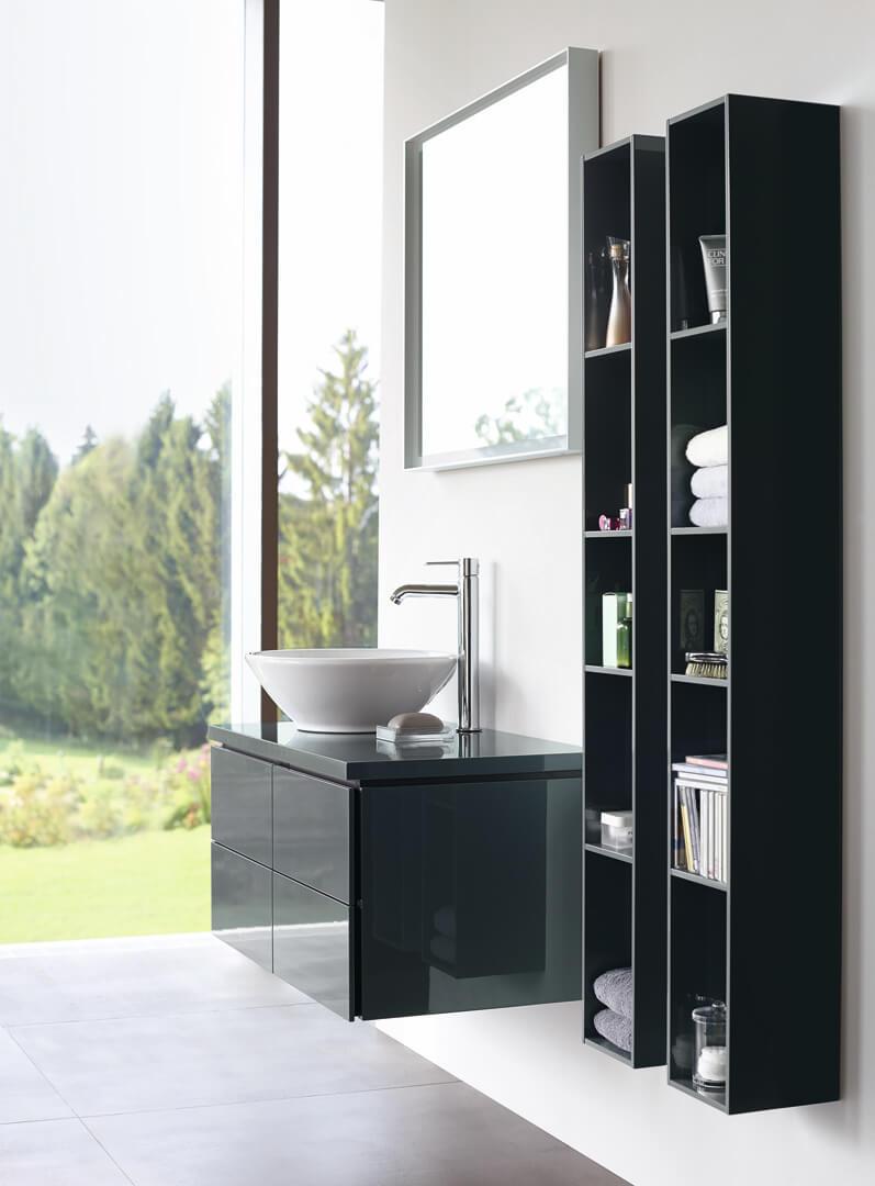 L-Cube Möbelwaschtisch mit Aufsatzwaschbecken