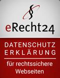 e-recht24.de Siegel Datenschutzerklärung